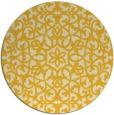 rug #984949 | round yellow damask rug