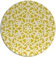 rug #984961 | round yellow damask rug