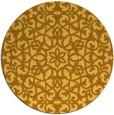 rug #984965   round light-orange damask rug