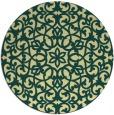 rug #984969 | round yellow damask rug