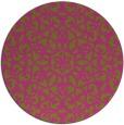 rug #984981 | round light-green damask rug