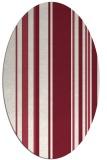 rug #98609   oval pink stripes rug