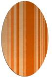 rug #98657 | oval red-orange stripes rug