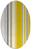 rug #98697 | oval white stripes rug