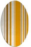 rug #98733 | oval light-orange stripes rug