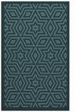 rug #987601 |  blue-green borders rug
