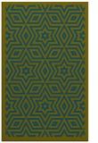 rug #987605 |  green borders rug