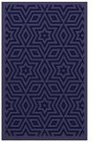 rug #987613    blue-violet borders rug
