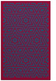 rug #987649 |  blue-green geometry rug