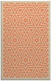 rug #987733 |  orange graphic rug