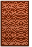 rug #987737 |  red-orange graphic rug