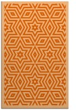 rug #987793 |  red-orange graphic rug