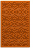 rug #987797 |  red-orange graphic rug