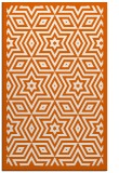 rug #987801 |  red-orange geometry rug