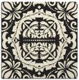 rug #987909   square black damask rug