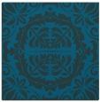 rug #987953   square blue-green damask rug