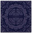 rug #987973 | square blue-violet damask rug