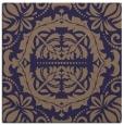 rug #987993 | square blue-violet damask rug
