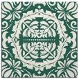 rug #988021 | square green damask rug