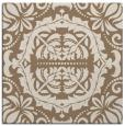rug #988037 | square mid-brown damask rug