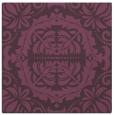 rug #988117   square purple damask rug