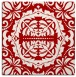 rug #988133 | square red traditional rug