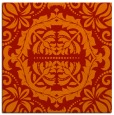 rug #988137 | square red traditional rug