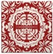 rug #988141 | square red traditional rug