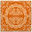 rug #988153   square red-orange damask rug