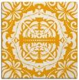 rug #988229 | square light-orange damask rug