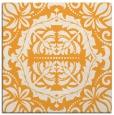 rug #988241 | square light-orange damask rug