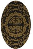 rug #988265 | oval black traditional rug