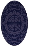 rug #988333 | oval blue-violet damask rug