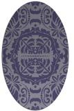 rug #988337   oval blue-violet damask rug