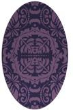 rug #988345   oval purple traditional rug