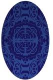 rug #988349 | oval blue-violet traditional rug