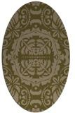 rug #988361 | oval brown damask rug