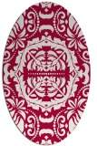 rug #988365 | oval red damask rug