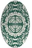 rug #988381 | oval green traditional rug