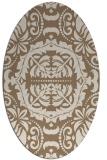 rug #988397 | oval beige traditional rug