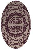 rug #988405   oval pink damask rug
