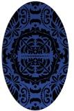 rug #988417   oval black rug
