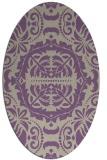 rug #988429   oval purple traditional rug