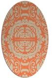 rug #988453   oval beige damask rug