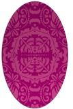 rug #988461   oval pink damask rug