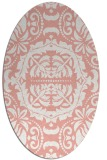 rug #988473 | oval white traditional rug