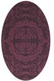 rug #988477 | oval purple damask rug