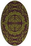 rug #988481 | oval purple damask rug