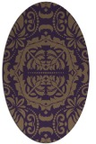 rug #988485 | oval purple rug