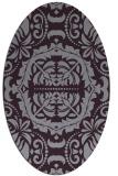 rug #988489   oval purple traditional rug